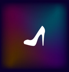Elegant high heel shoe icon vector