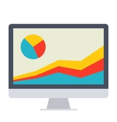 Financial data icon vector