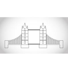 Isolated london bridge design vector