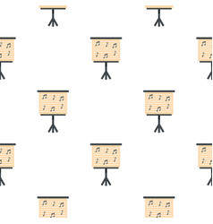 Music stand with piano notes pattern seamless vector