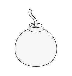 round bomb explosive vector image