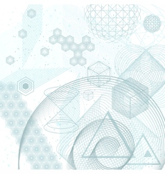 Sacred geometry elements background vector