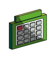 Schedule symbol 3d vector
