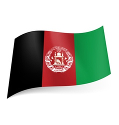 State flag of afghanistan vector