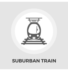 Suburban electric train flat icon vector image vector image
