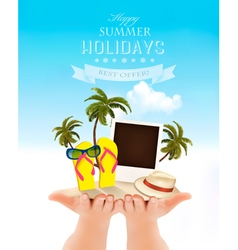 Summer holidays background Vacation memories vector image