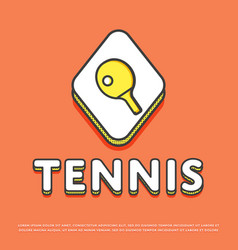 Tennis sport icon with ping pong paddle vector
