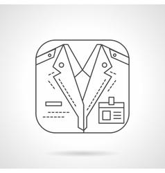 Train conductor icon flat line design icon vector