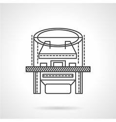 X-ray machine flat line icon vector