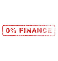 0 percent finance rubber stamp vector