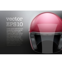 Red motorcycle helmet vector
