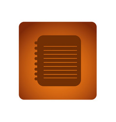 orange emblem notebook paper icon vector image
