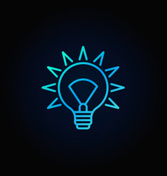 Blue light bulb icon vector