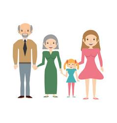 Mother single grandparents daughter vector