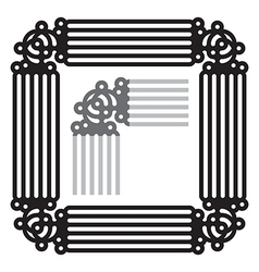 Frame ornament vector image