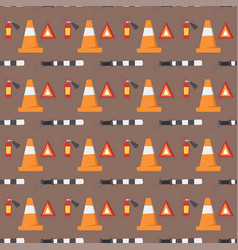 Auto transport motorist seamless pattern vehicle vector