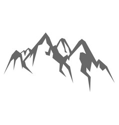 rock mountain silhouette vector image