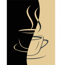 coffee cup image vector image