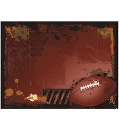 grunge american football background vector image