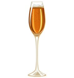 Champagne in tall glass vector
