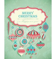 retro christmas postcard vector image