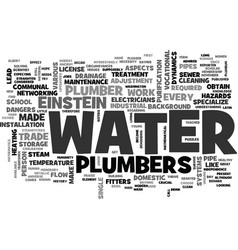a little history about the plumber trade text vector image vector image