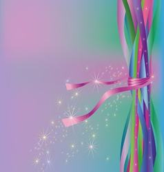Abstract colorful background with ribbons and vector image