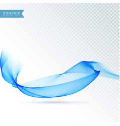 Blue colored abstract transparent wave background vector