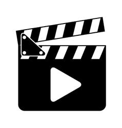 Clapper clapperboard film icon vector