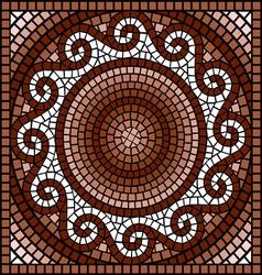 classic Greek mosaic vector image