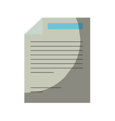 Colorful silhouette of paper sheet with text vector
