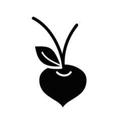 Contour beet organic healthy vegetable vector