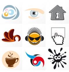 design symbols vector image vector image