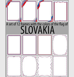 flag v12 slovakia vector image vector image