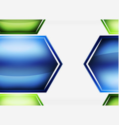 glossy glass shapes abstract background vector image