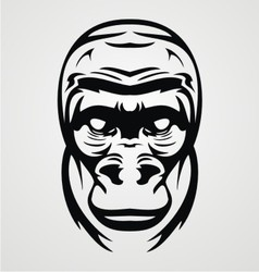 Gorilla face tribal vector