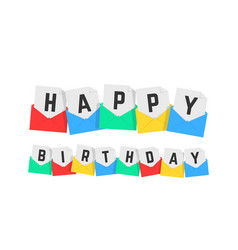 happy birthday text of color letters vector image
