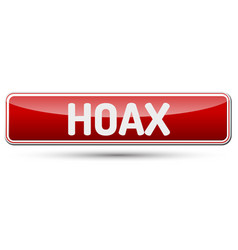 Hoax - abstract beautiful button with text vector