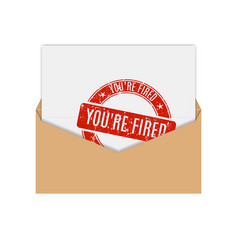 icon you are fired vector image vector image