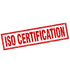 Iso certification square stamp vector