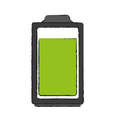 Isolated battery icon image vector