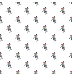 jack in the box toy pattern seamless vector image vector image