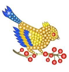 Jewelry birdie vector image vector image