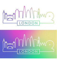 London skyline colorful linear style editable vector