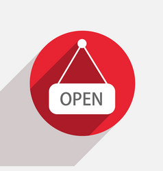 modern open red circle icon vector image vector image