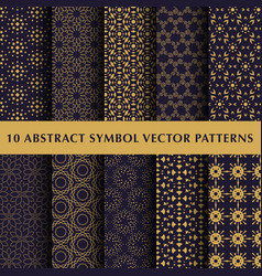 Set of abstract symbol patterns vector