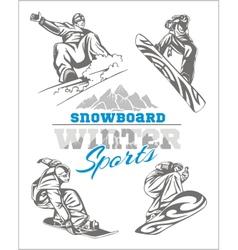 Snowboard - winter sport stock vector image vector image