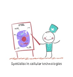 Specialist in cellular technologies speaks cells vector