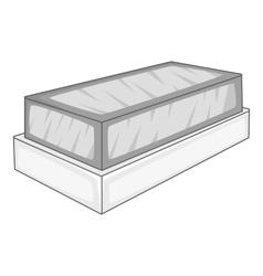 Tomb icon gray monochrome style vector