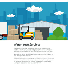 warehouse services flyer design vector image